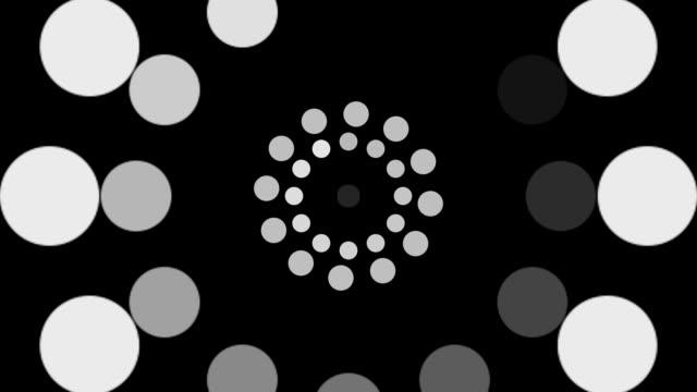 Rotating circular background video