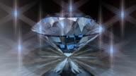 (Loop) Rotating Clear Diamond video