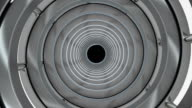 Rotating cylindrical tunnel. video