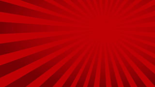 Rotating dark red ray, radiating (or sunburst) style background video