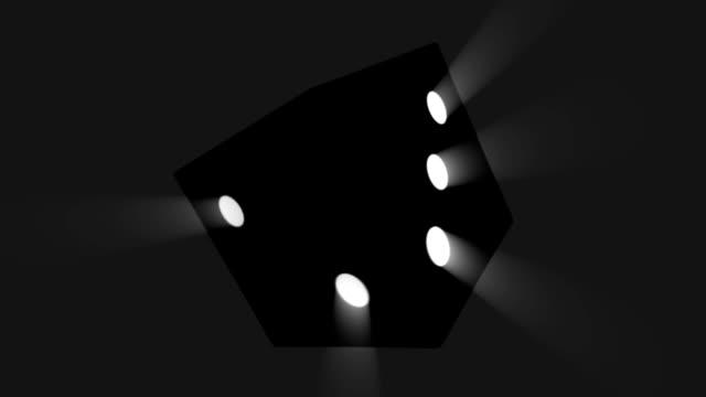 rotating dice HD video