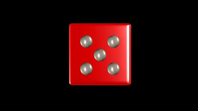 HD rotating dice video