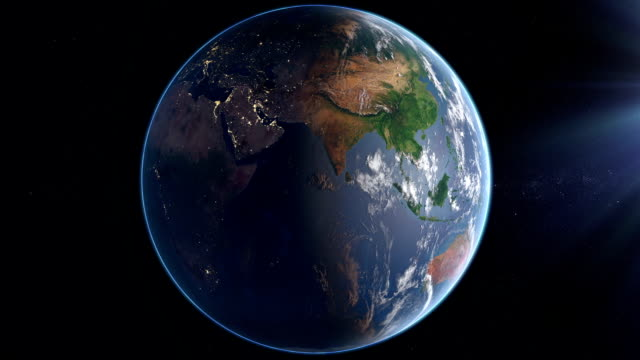 Rotating Earth  - Day And Night video