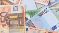 HD LOOP: Rotating Euro Banknotes video