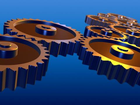 Rotating gears - teamwork NTSC video