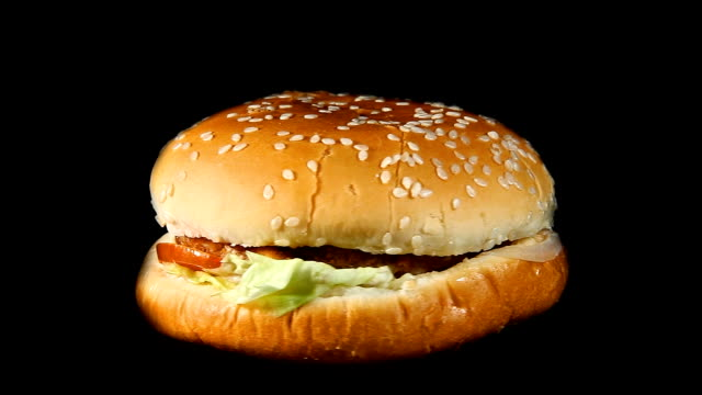 Rotating hamburger video