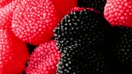rotating jelly forest fruits, raspberries blackberries video