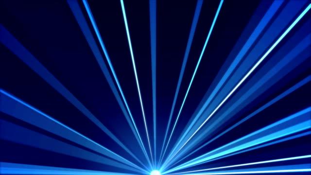 Rotating Light Beams Animation - Loop Blue video
