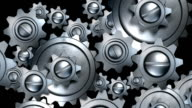 rotating metal gears loop video