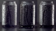 Rotating mockup of can on black background. Loopable. video