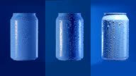 Rotating mockup of can on bluebox. Loopable. video