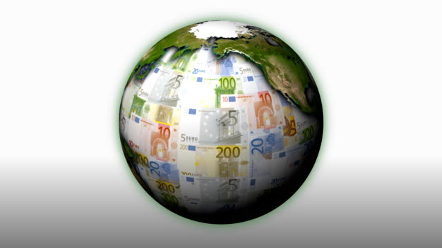 Rotating Money Earth Euros - Loopable video