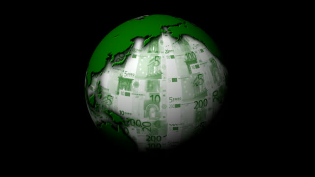 Rotating Money Earth - Loopable with Alpha video
