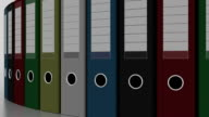 Rotating multicolored binders. FullHD seamless loopable animation video