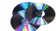 CD DVD rotating on white background video