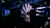 Rotating part of Industrial lathe - background video