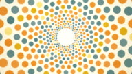 rotating pastel dots background video