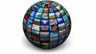 Rotating picture globe video