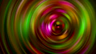 Rotating spiral moving around colored Different patterns Abstract art Backgrounds video