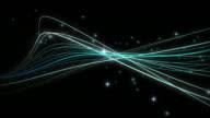 Rotating Strand and Particle Galaxy Loop video