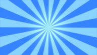 Rotating Stripes Background Animation - Loop Blue video