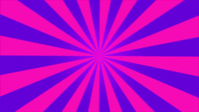 Rotating Stripes Background Animation - Loop Purple video