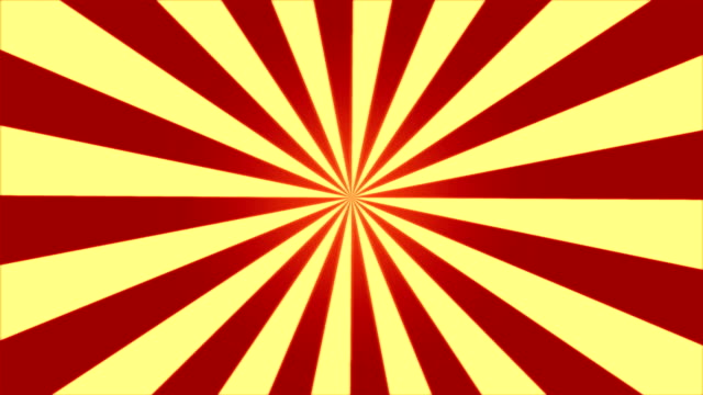 Rotating Stripes Background Animation - Loop Red Yellow video