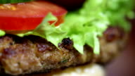 Rotating tasty Hamburger video