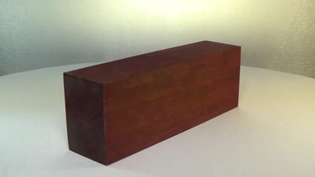 Rotating the block of wood amaranth. Mahogany video