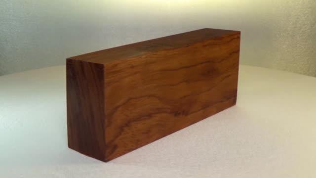 Rotating the block of wood bubinga video