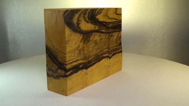 Rotating the block of wood ebony video