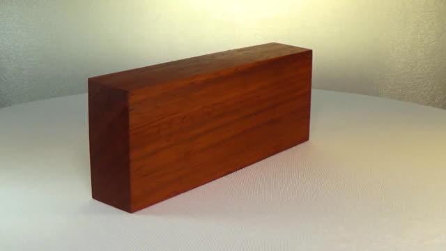 Rotating the block of wood padauk video