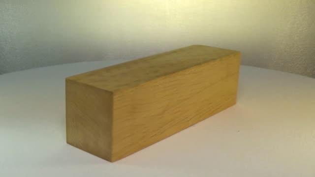 Rotating the block of wood white hornbeam video