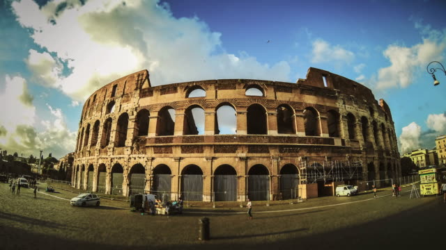 Rotating Timelapse of the Colosseum HD Video video