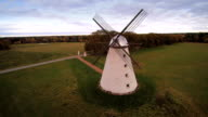 Rotating view of the windmill in the field video