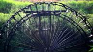 Rotating water wheel video