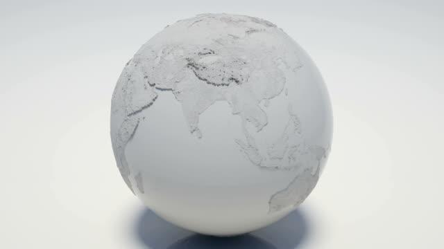 Rotating White Globe Loopable video