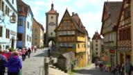 4K - Rothenburg ob der Tauber video