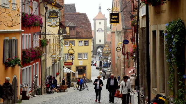 TU Rothenburg Obere Schmiedgasse And Siebers Tower (4K/UHD to HD) video