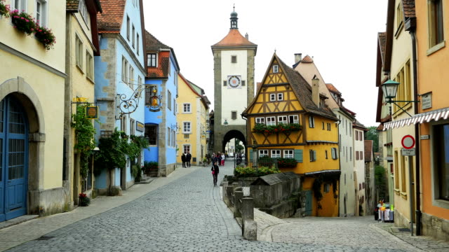 PAN Rothenburg Ploenlein And Siebers Tower (4K/UHD to HD) video