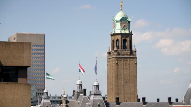 4K: Rotterdam municipality building video