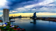 Rotterdam Sunset skyline video