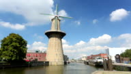 Rotterdam with windmill video