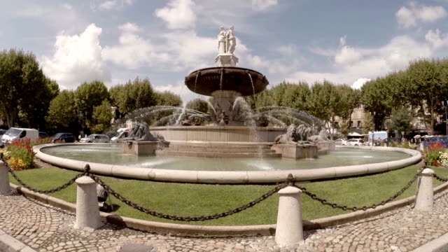 Rotunda Funtain in Aix en Provence video