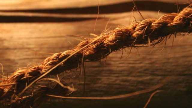 Rough and Course Rope with Warm Lighting. video