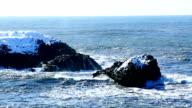 Rough waves at the Atlantic Ocean video