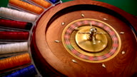 Roulette spinning video