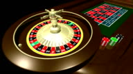 Roulette table with ball HD Loopable video