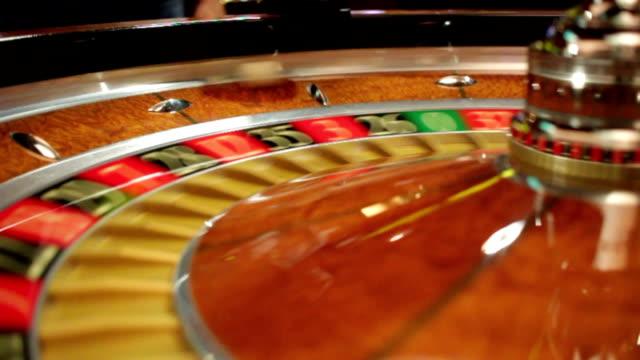 Roulette wheel in casino video