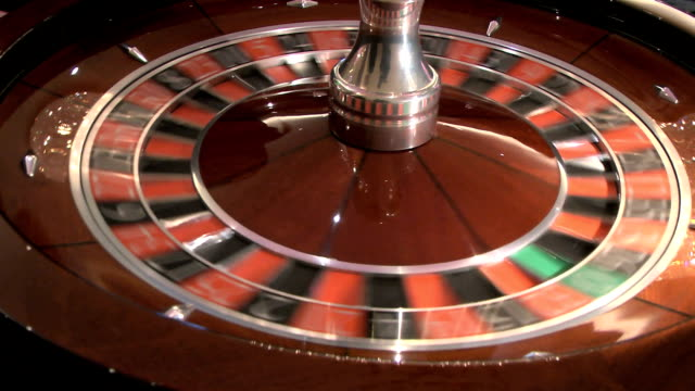 Roulette wheel spin video